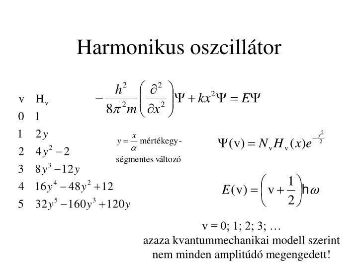 Harmonikus oszcillátor