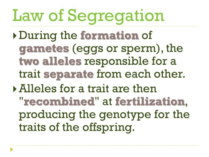 Law of segregation
