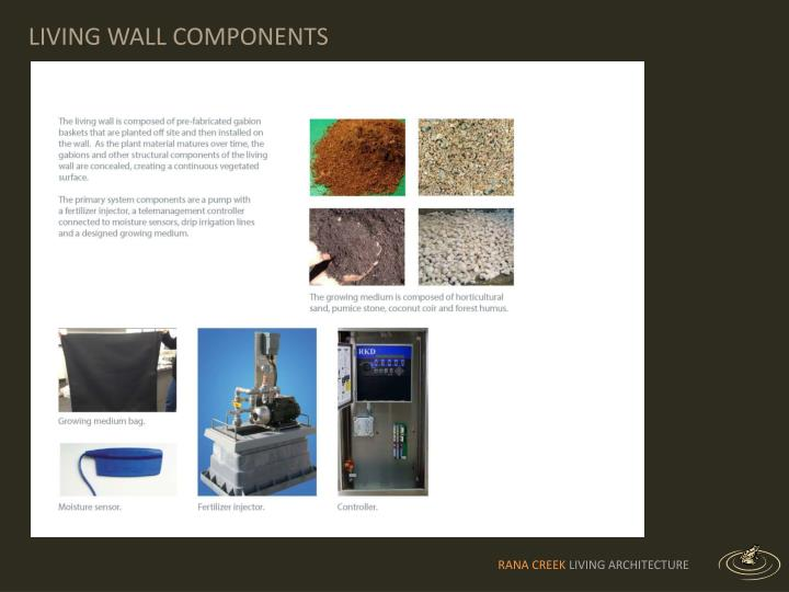 LIVING WALL COMPONENTS