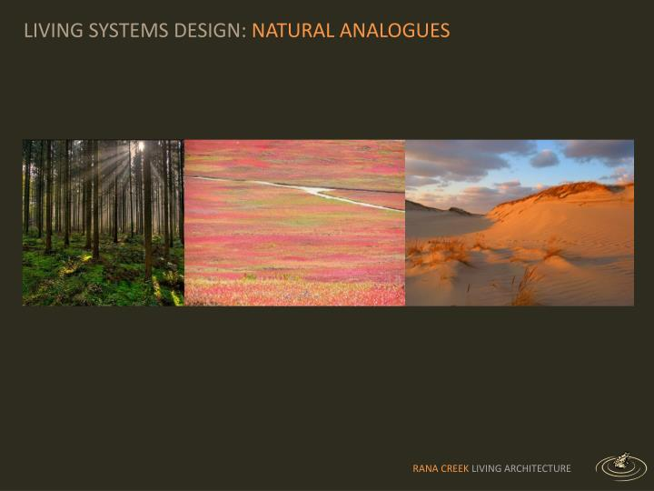 LIVING SYSTEMS DESIGN: