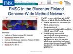 fmsc in the biocenter finland genome wide method network
