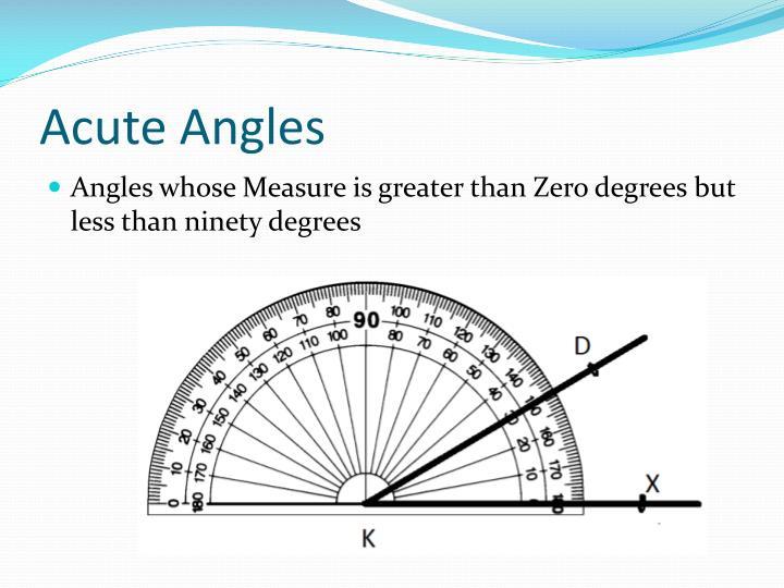 Acute Angles