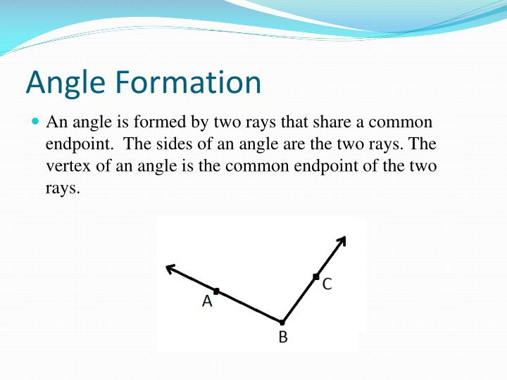 Angle formation