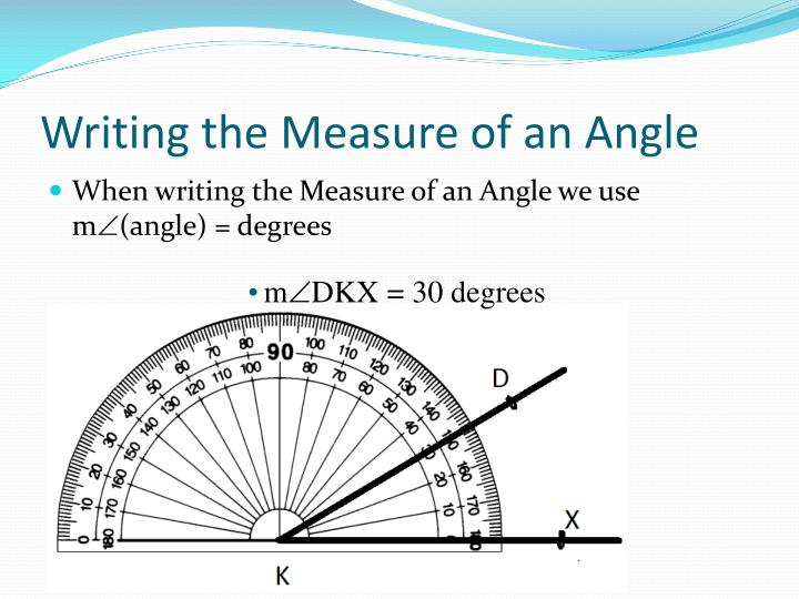 Writing the Measure of an Angle