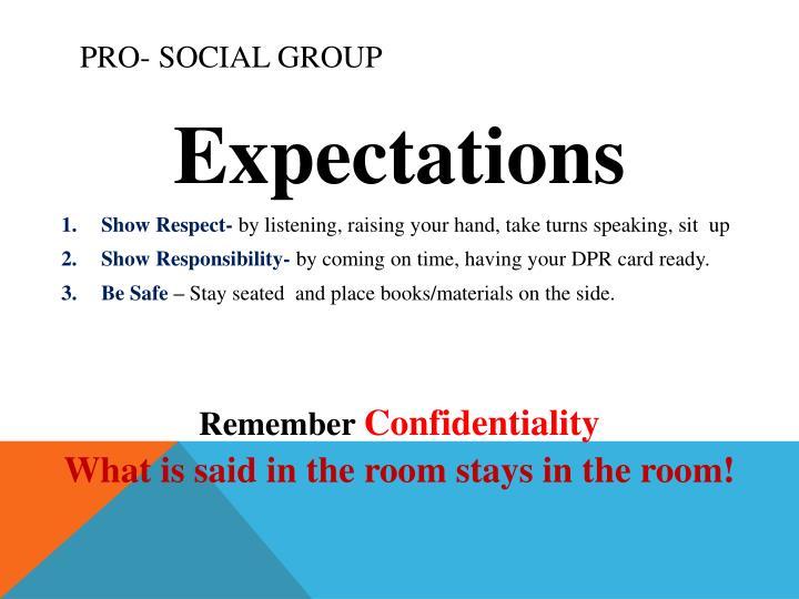 Pro- Social Group