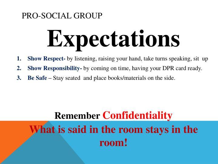 Pro-social Group