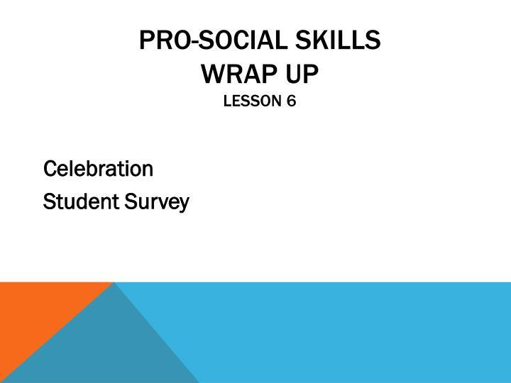 Pro-Social Skills