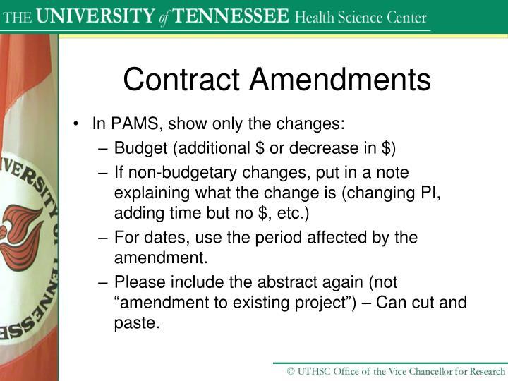 Contract Amendments