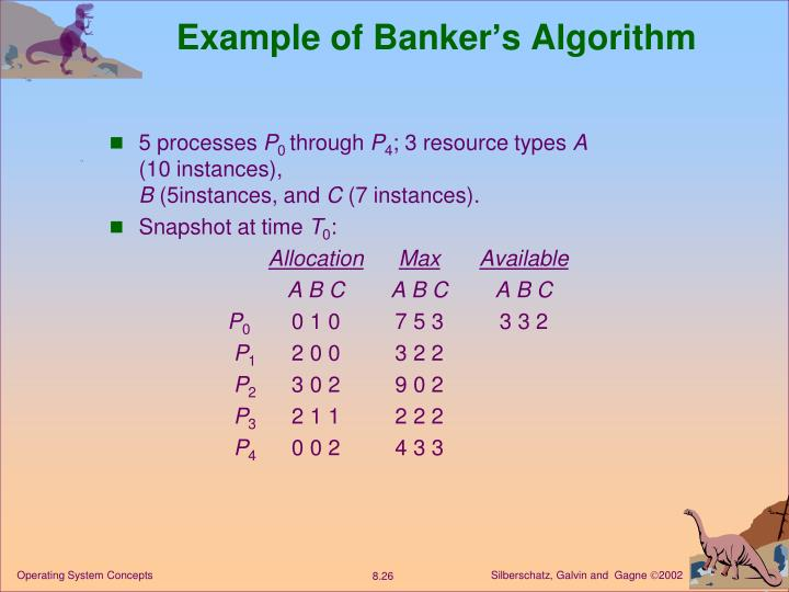 Example of Banker's Algorithm