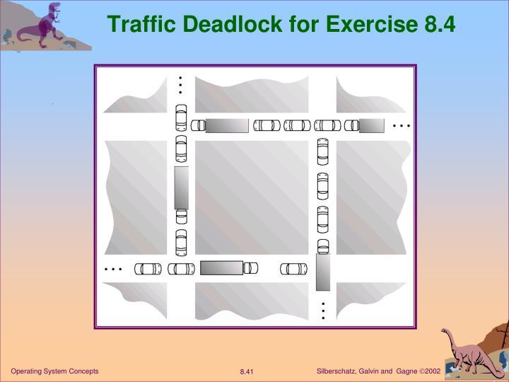 Traffic Deadlock for Exercise 8.4