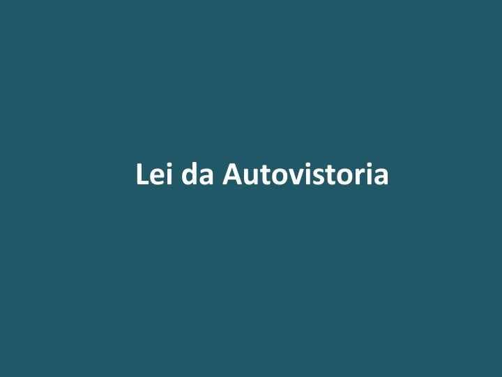 Lei da Autovistoria