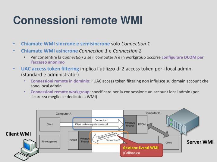 Connessioni remote WMI