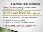 function call execution