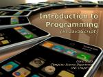 introduction to programming in javascript