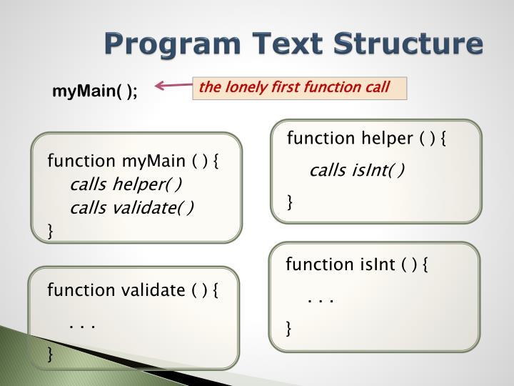 Program Text Structure