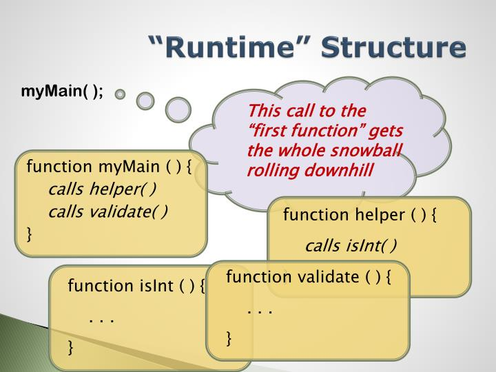"""""""Runtime"""" Structure"""