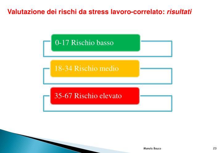 Valutazione dei rischi da stress lavoro-correlato: