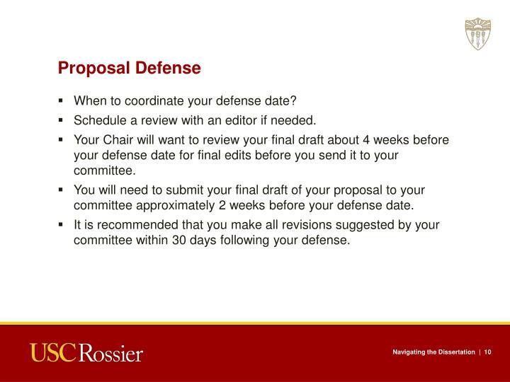 Proposal Defense