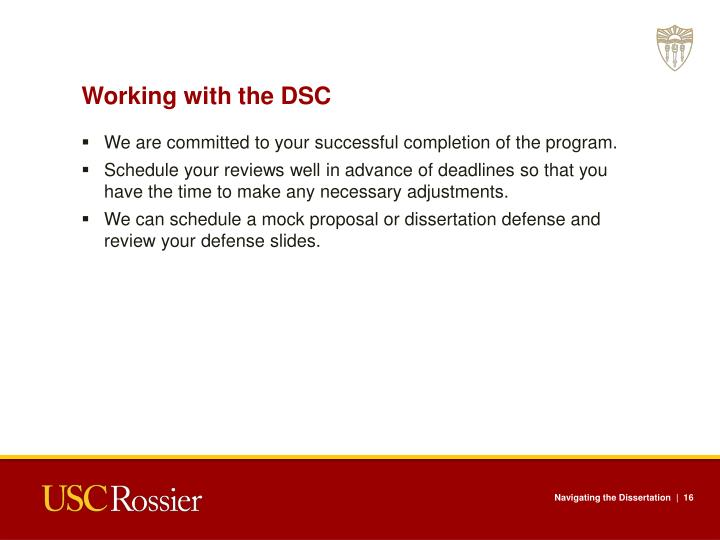 Working with the DSC