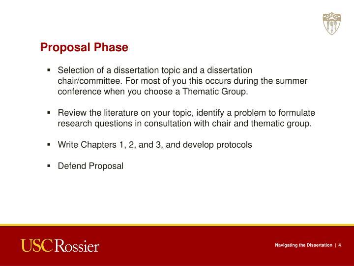 Proposal Phase