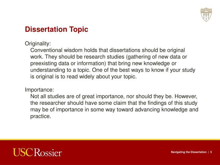 Dissertation Topic