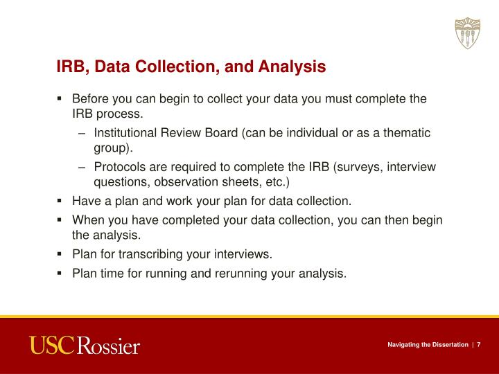 IRB, Data Collection, and Analysis