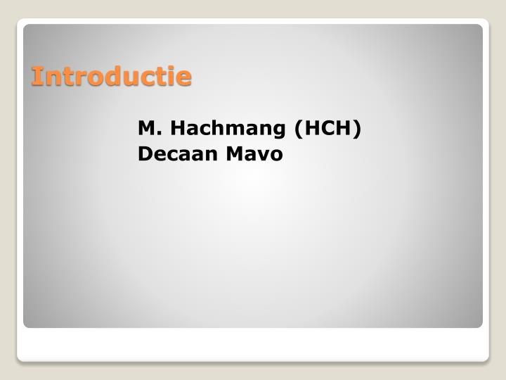 M. Hachmang (