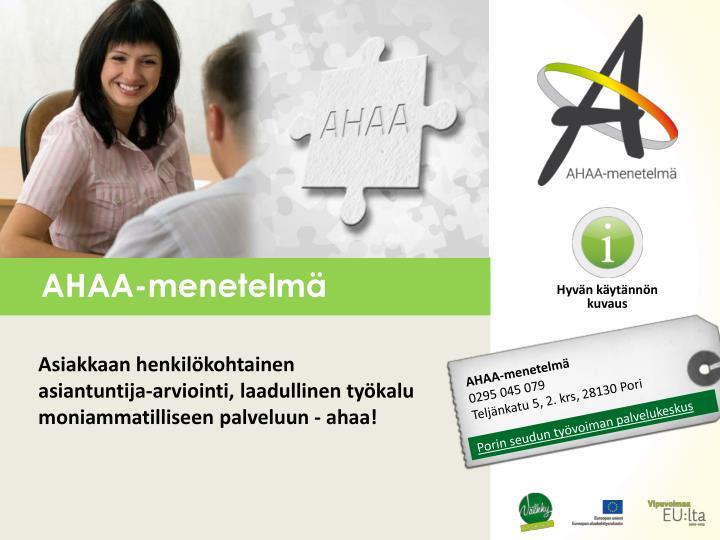 AHAA-menetelmä