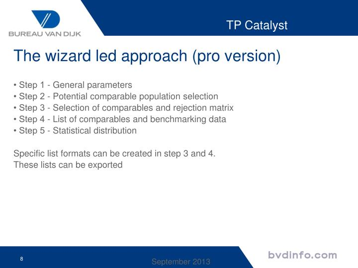 The wizard led approach (pro version)