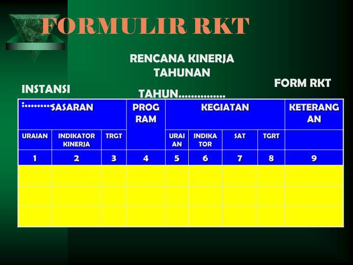 FORMULIR RKT
