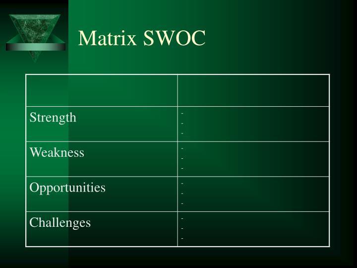 Matrix SWOC