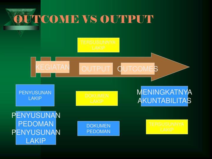 OUTCOME VS OUTPUT