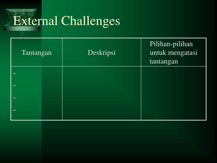 External Challenges
