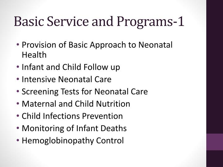 Basic Service and Programs-1