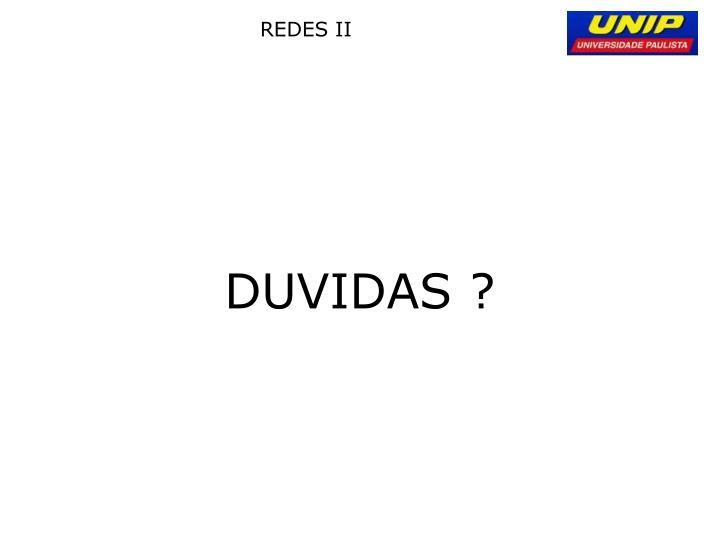 DUVIDAS ?