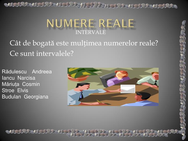 Numere reale