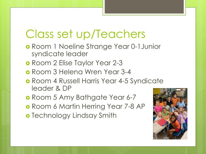 Class set up teachers