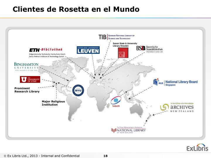 Clientes de Rosetta en el
