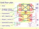 gold floor plan
