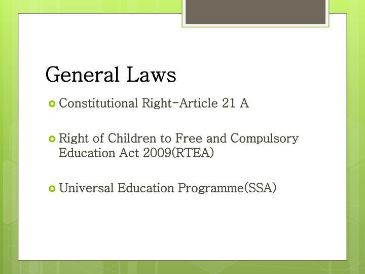 General Laws