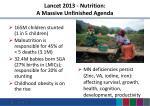 lancet 2013 nutrition a massive unfinished agenda