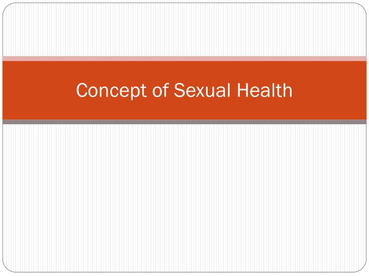 concept of sexual health