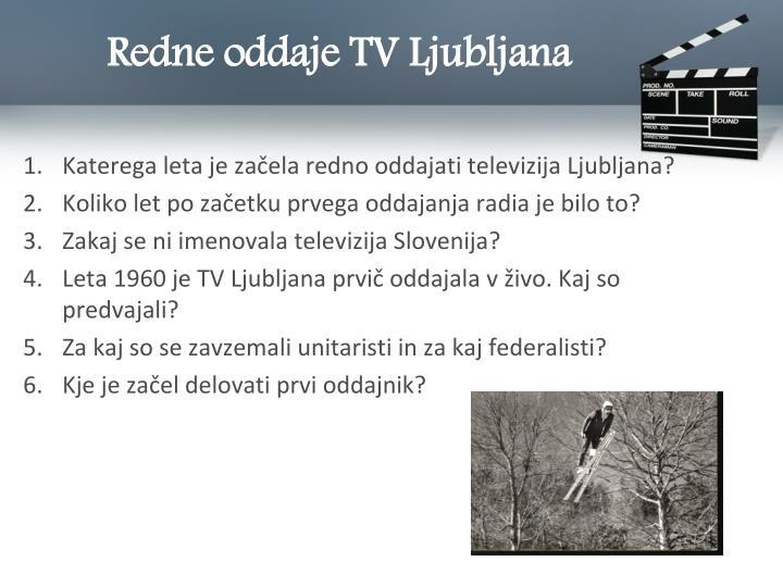 Redne oddaje TV Ljubljana
