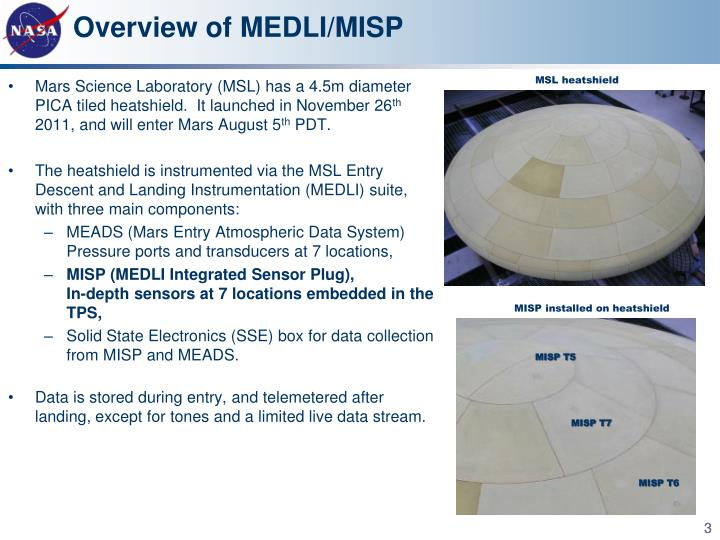 Overview of MEDLI/MISP