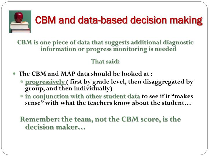CBM and data-based decision making