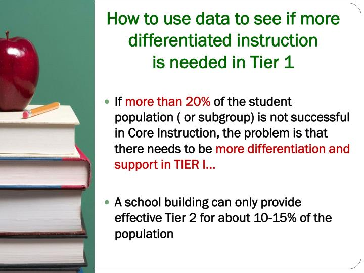 How to use data to see if more differentiated instruction