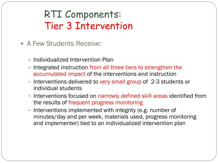 RTI Components: