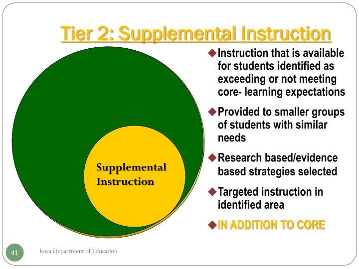 Tier 2: Supplemental