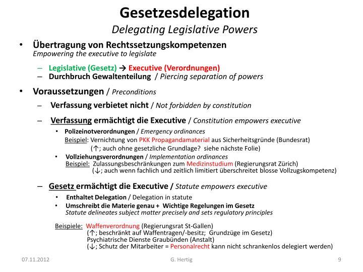 Gesetzesdelegation