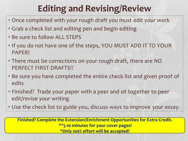 Editing and Revising/Review